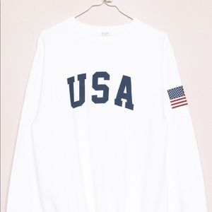 White USA Brandy Melville sweater